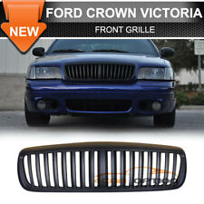 Fits 98-11 Ford Crown Victoria Vertical Front Hood Black Grill Grille 99 00 01