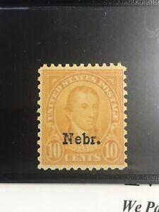 United States US #679 Nebraska Overprint 10c 1929 MNH PF certification KSSTAMPS
