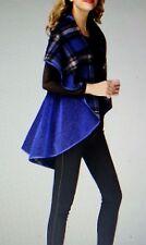 Jerry T Women's Reversible Cape 2X 22 24 Metallic Blue Plus Size Jacket SR7070