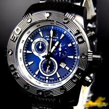 Invicta Reserve Ocean Reef Swiss Made Chronograph Black Steel Blue Watch New