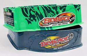 Beyblade Metal Fusion Bolt Blast Stadium & Beyblade XTS Lion's Lair Stadium RARE