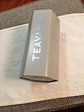 Teavana Storage Tin Gray 8 Oz Hexagon Empty 2017 Starbucks Coffee Tin Plated