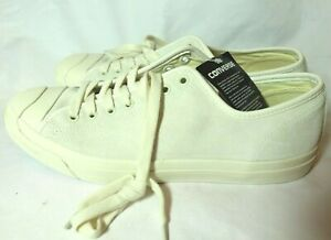 Converse Jack Purcell Jack Suede Low Top OX Size 11.5 157791C Egret/White-Egret