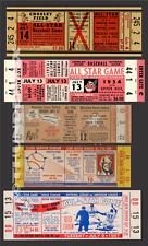 5 1953-1957  BASEBALL ALL-STAR GAME VINTAGE UNUSED FULL TICKETS 53 54 55 56 57