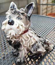 More details for black & white sitting spaghetti terrier dog figure italy italian pink ribbon