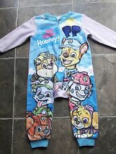 BNWNT Boy's Paw Patrol Brushed Cotton Winter All In One/Sleeper/Pyjamas Size 2