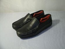TOMMY HILFIGER BLACK LEATHER LOAFERS CASUAL SHOES / SIZE US 11 / EUR 44.5 MEN'S