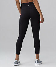 NEW Lululemon Leggings 7/8 Length Capri  - Women's-  Black (Size 6)