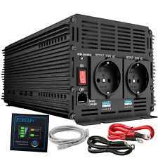 Inversor  Convertidor 3000W 6000W 12V 220V Transformador control remoto 2 X USB