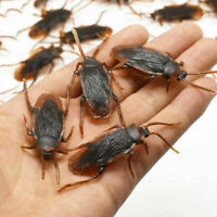 Prank Funny Trick Joke Special Lifelike Model Fake Cockroach Roach Toy 12Pcs NEW