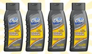 4 Dial For Men Antibacterial Body Wash Odor Armor 16 OZ