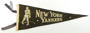 """Extremely RARE Vintage 1930's New York Yankees 22 1/2""""  Pennant"""