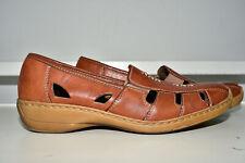 Rieker Antistress Orthopedic Leather Brown Slip on Women 41