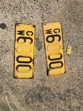 Vintage Original 6000 Gross Weight Embossed Steel Sign Truck, Rat Rod