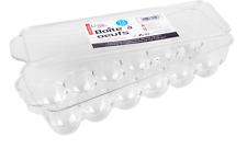 12 Taza de plástico Bandeja de huevo caja de titular de almacenamiento con tapa fresca Nevera Contenedor