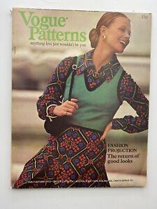 VOGUE MAGAZINE 1972 Autumn Pattern Book Free gIft wrap FAST DISPATCH