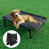Elevated Pet Bed Large Medium Outdoor Dog Bed Lounger Raised Cot Cooling Mesh