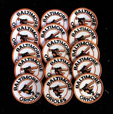(16) 1960's or 70's Baltimore Orioles Baseball Mlb Large Patch Lot Sew On