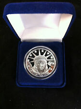 "1 TROY OUNCE .999 FINE SILVER PROOF COIN "" LIBERTY "" 1 oz Coin Like Zombucks"
