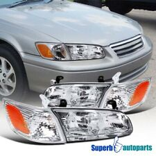 For 2000-2001 Toyota Camry Headlights Lamps+Corner Turn Signal Lights L+R