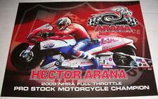 2010 Hector Arana Lucas Oil Buell Pro Stock Motorcycle NHRA postcard