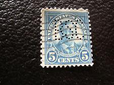 ESTADOS UNIDOS - 1 sello perforado matasellado (A16) stamp united states