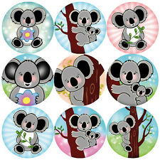 144 Koala Ours 30 mm Children's Reward stickers for Teachers, parents Parti Sacs