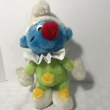 Clown Smurf Plush Peyo Wallace Berrie 1983 Rare