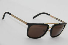 AUTHENTIC BURBERRY B 4167-Q 3001/73 BLACK GOLD FRAME SUNGLASSES 57-19