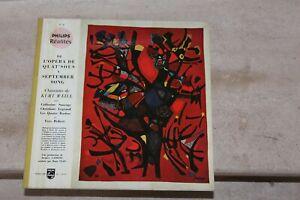 Lp de l'opéra de quat'sous a september song, de kurt weill (limited edition,n°)