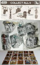 STAR WARS KFC EPISODE 1 COMPLETE UK TOY SET + COMPLETE 20 CARD SET