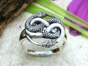 Schlange Aurin 925 Sterling Silber Ring 2 Schlangen Unendlichkeit Auryn