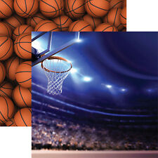 Reminisce ARENA 12x12 Dbl-Sided (2pc) Scrapbooking Paper BASKETBALL