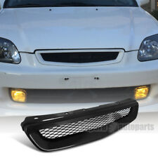 For 1996-1998 Honda Civic Honeycomb Type Grill Hood Mesh Grille R Black