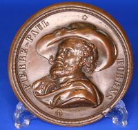France French Pierre-Paul Rubens copper uniface roundel /medallion, 70mm [18874]