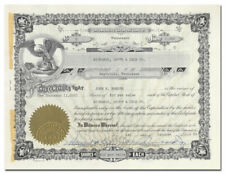 Richards, Scott & Lyle Co. Stock Certificate (Nashville, Tennessee)