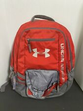 Under Armour Padded Backpack Hustle Storm1 Red  / Gray Unisex VGC