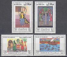 Bahrain 1992 ** Mi.483/86 Kinderzeichnungen Childen's Paintings