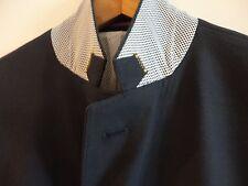 SAND COPENHAGEN Navy Cotton 2-Button Side Vent Sport Coat Blazer Jacket