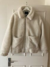New Look off White Teddy Faux Lambs Wool Shearling Jacket L