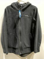 Columbia Canyon Point Womens Hooded Sherpa Full Zip black Size Large MSRP 80