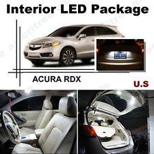 For Acura RDX 2007-2012 Xenon White LED Interior kit + White License Light LED