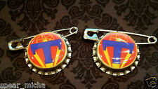 2 pc Disney Tomorrowland Bottle Cap Pin Badge Tomorrowland movie pin party favor