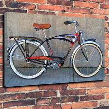 "Schwinn Vintage Bicycle Printed Box Canvas Picture A1.30""x20""- 30mm Deep"