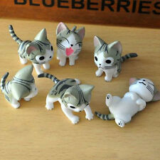 6PCs/set Cheese Cat Toys Animals Japanese Anime Action Figure Collection