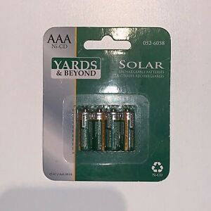 Yards & Beyond - Solar rechargeable batteries - N.052-6058 - BT-NC-2/3AAA-200-D4