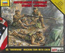 Zvezda 1/72 US Army .50 cal Browning Machine gun & Crew Modern Art of Tactic
