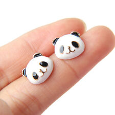 Cute Panda Animal Shape Stud Earrings For Girls Jewelry Alloy Gift Bridal Party