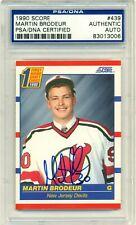 1990 Score Hockey Martin Brodeur AUTOGRAPH ROOKIE RC #439 PSA/DNA AU Auto
