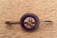 STERLING SILVER ENAMEL UNION IS STRENGTH PIN BROACH BADGE SOUTH AFRICAN VINTAGE